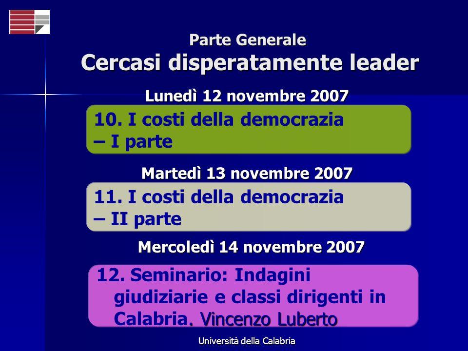 Università della Calabria Parte Speciale Lettura e classe dirigente 13.