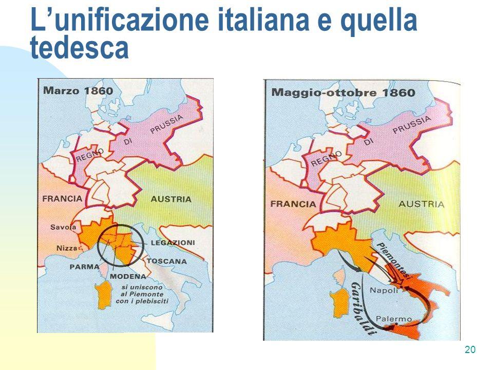 20 Lunificazione italiana e quella tedesca