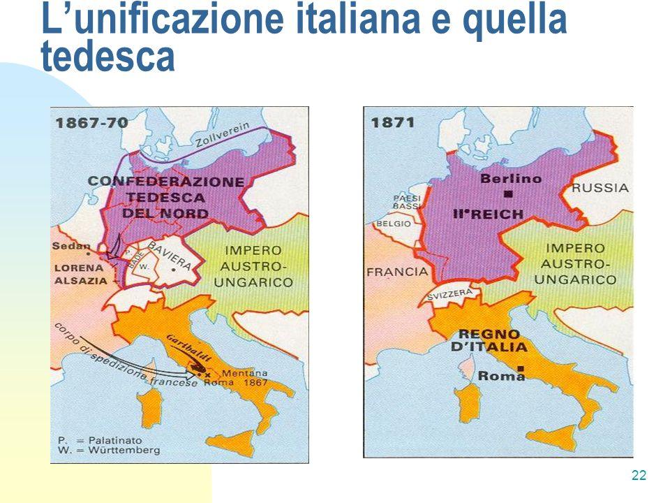 22 Lunificazione italiana e quella tedesca