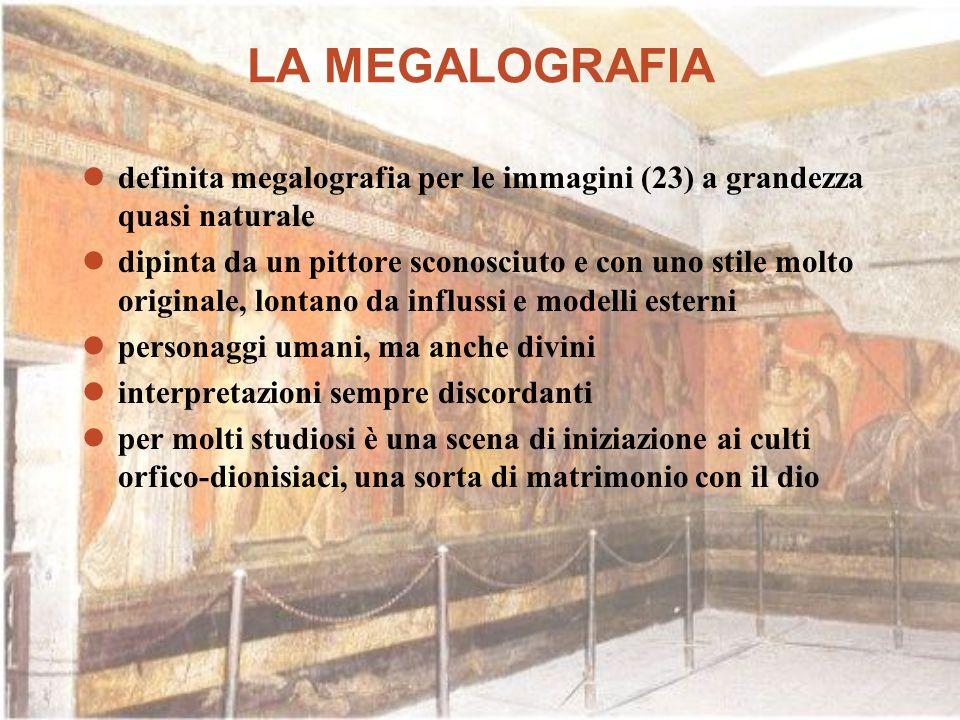LA MEGALOGRAFIA definita megalografia per le immagini (23) a grandezza quasi naturale dipinta da un pittore sconosciuto e con uno stile molto original