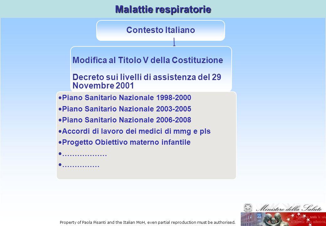 Piano Sanitario Nazionale 1998-2000 Piano Sanitario Nazionale 2003-2005 Piano Sanitario Nazionale 2006-2008 Accordi di lavoro dei medici di mmg e pls