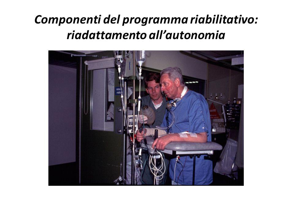 Componenti del programma riabilitativo: riadattamento allautonomia