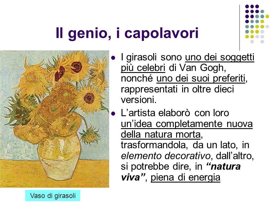 Il genio, i capolavori I girasoli sono uno dei soggetti più celebri di Van Gogh, nonché uno dei suoi preferiti, rappresentati in oltre dieci versioni.