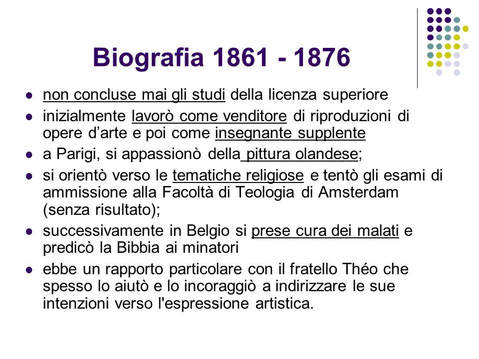 Biografia 1861 - 1876 non concluse mai gli studi della licenza superiore inizialmente lavorò come venditore di riproduzioni di opere darte e poi come