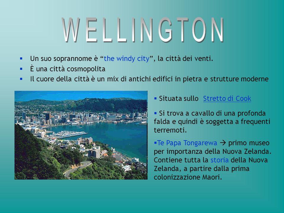 William Hobson scelse questa zona come capitale (1840) Port Nicholson ( l odierna Wellington ) migliore per la costituzione di una capitale amministrativa, a causa della sua posizione geografica ( vicina allIsola del Sud ) Auckland al di sopra di unarea vulcanica.