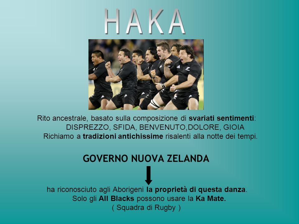 GOVERNO NUOVA ZELANDA ha riconosciuto agli Aborigeni la proprietà di questa danza. Solo gli All Blacks possono usare la Ka Mate. ( Squadra di Rugby )