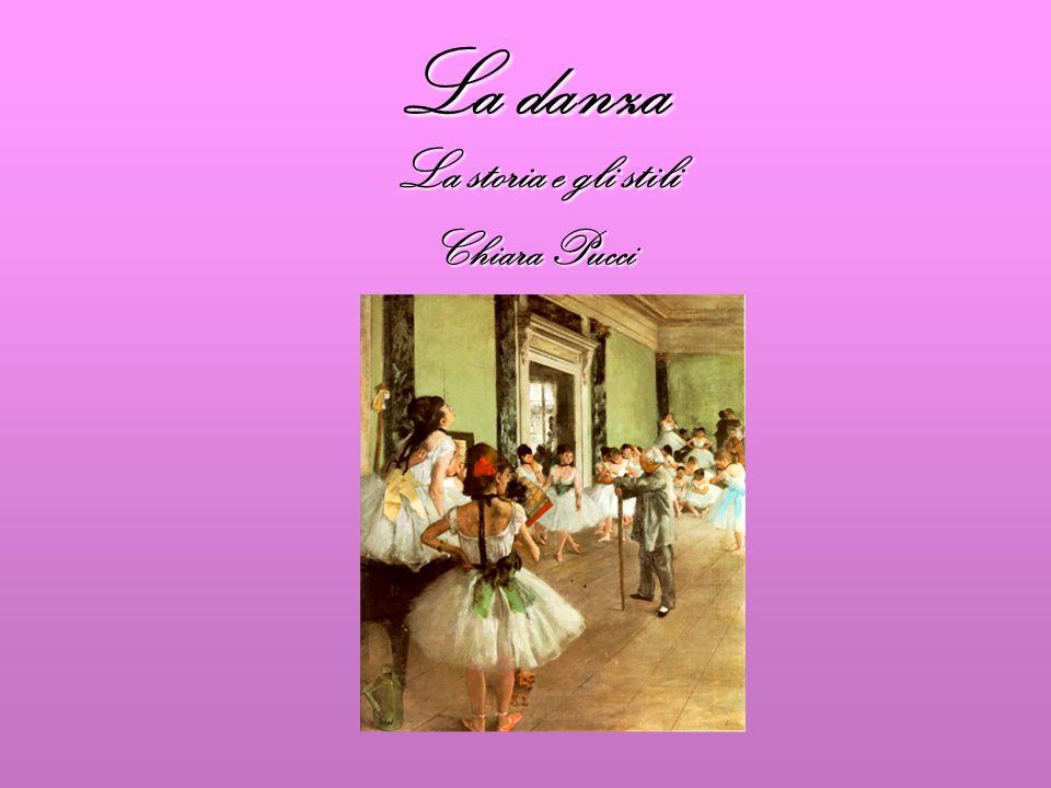 La danza… Una delle arti sceniche principali nellantichità assieme al teatro e alla musica.