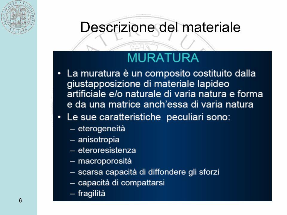 6 Descrizione del materiale