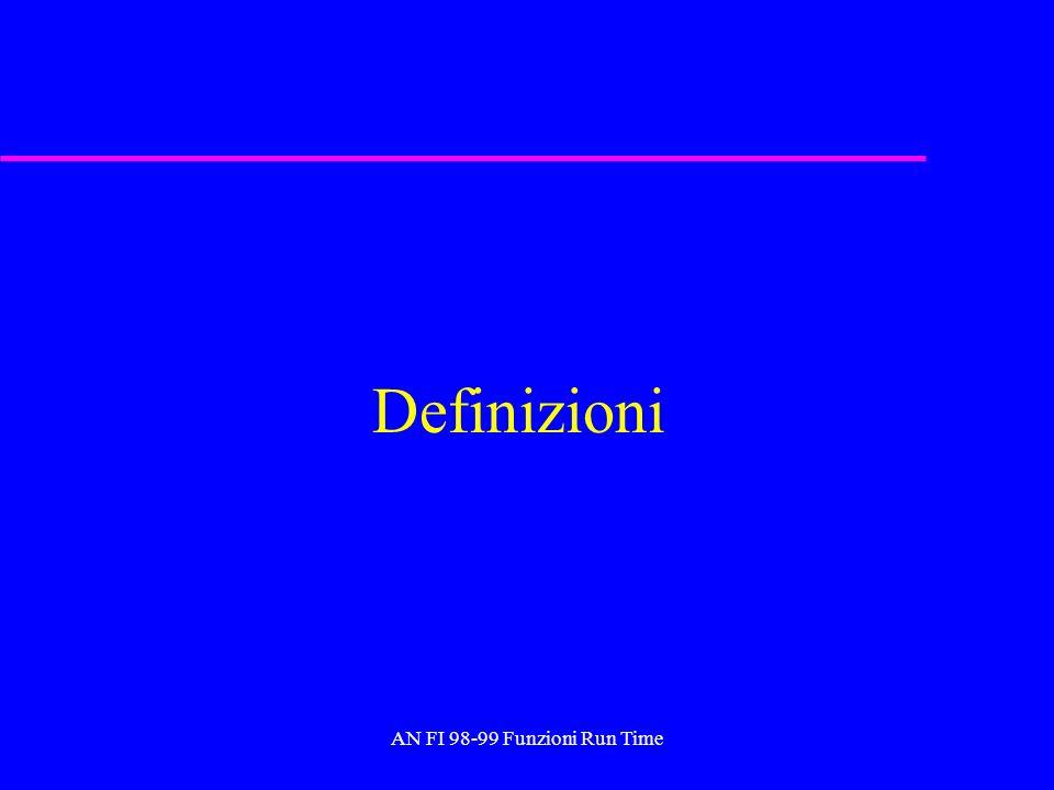 AN FI 98-99 Funzioni Run Time Definizioni