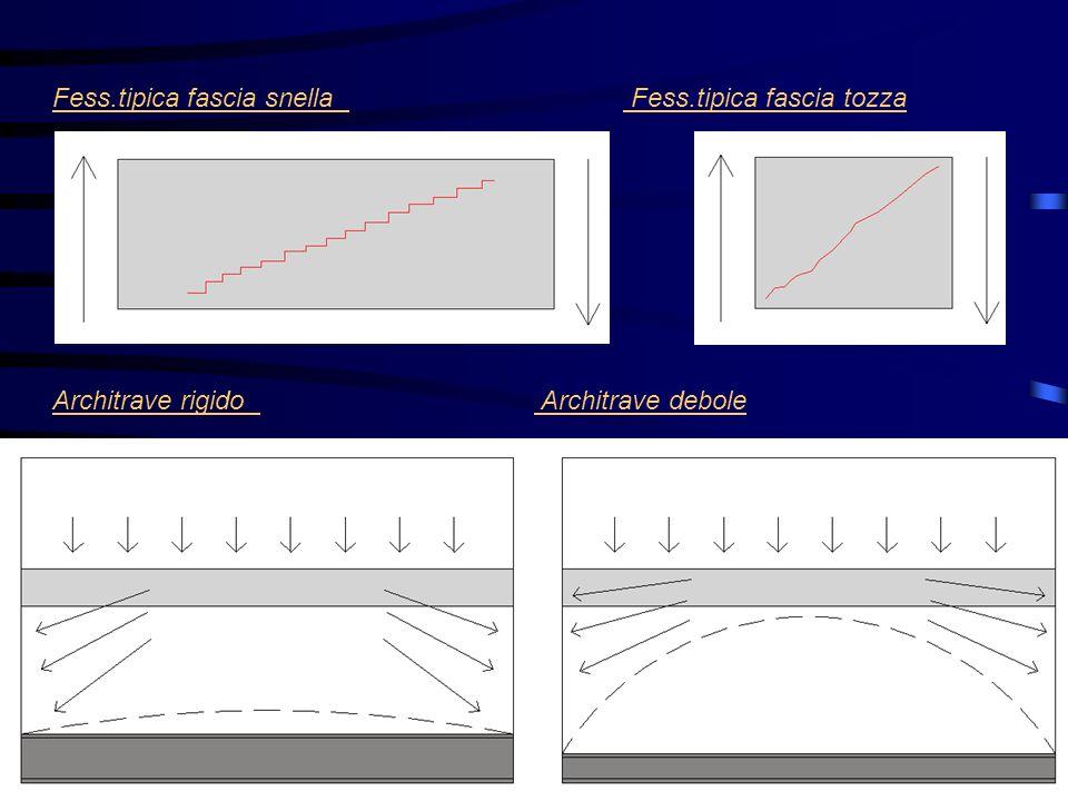 Fess.tipica fascia snella Fess.tipica fascia tozza Architrave rigido Architrave debole