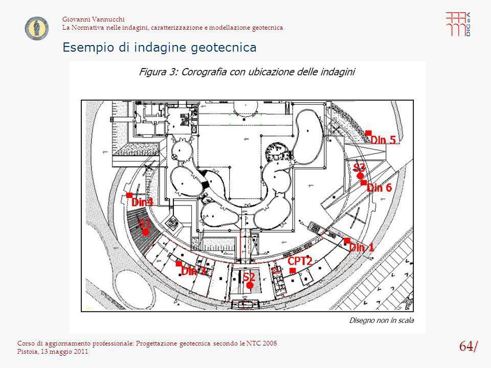 64/ Corso di aggiornamento professionale: Progettazione geotecnica secondo le NTC 2008 Pistoia, 13 maggio 2011 Giovanni Vannucchi La Normativa nelle i