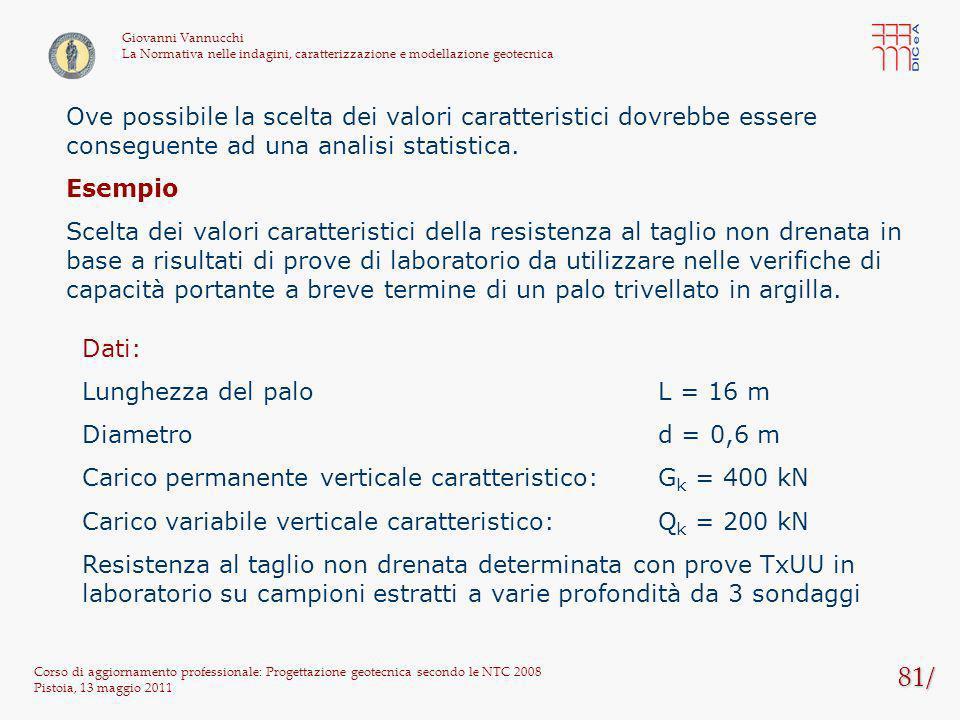 81/ Corso di aggiornamento professionale: Progettazione geotecnica secondo le NTC 2008 Pistoia, 13 maggio 2011 Giovanni Vannucchi La Normativa nelle i