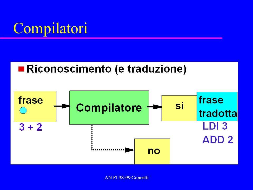 AN FI 98-99 Concetti Compilatori