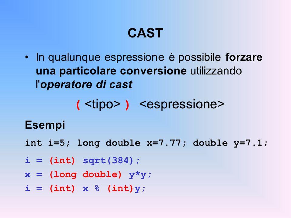TIPI DI DATO I tipo di dato, scalari o strutturati, si differen- ziano in predefiniti e definiti dallutente.