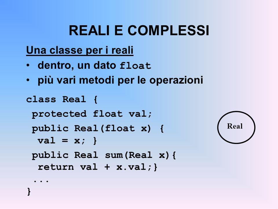 UN ALTRO ASPETTO In Java, lereditarietà fra classi può essere solo singola una classe può ereditare da una sola superclasse Questo può essere limitativo in alcune circostanze altri linguaggi supportano lereditarietà multipla che però comporta non pochi problemi A Object B
