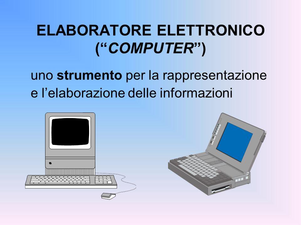 ELABORATORE ELETTRONICO (COMPUTER) uno strumento per la rappresentazione e lelaborazione delle informazioni