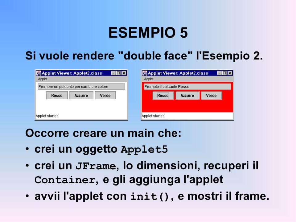 ESEMPIO 5 Si vuole rendere