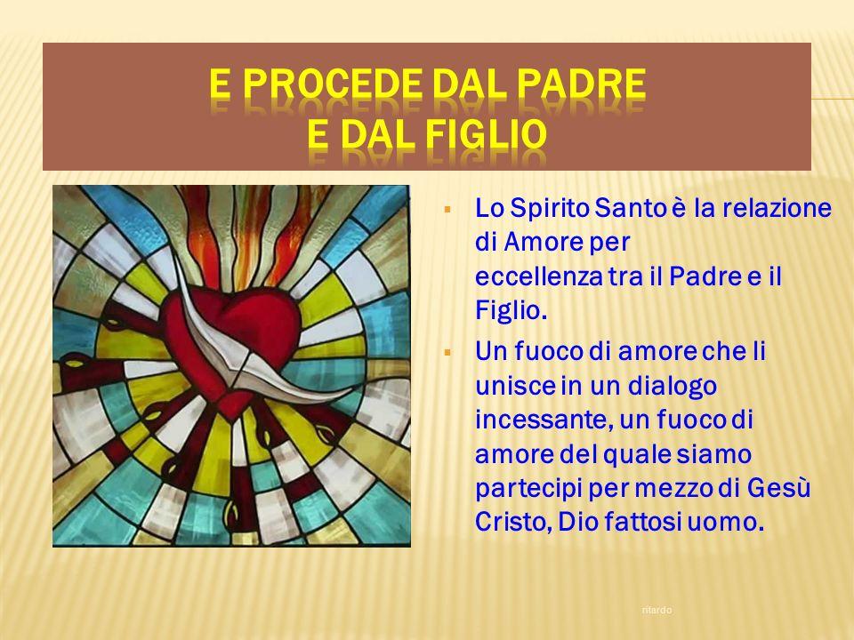Lo Spirito Santo è la relazione di Amore per eccellenza tra il Padre e il Figlio. Un fuoco di amore che li unisce in un dialogo incessante, un fuoco d