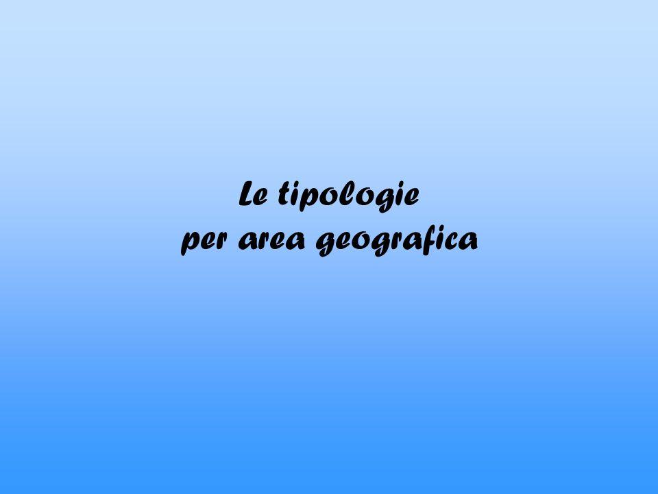 Le tipologie per area geografica