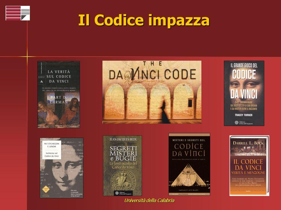 Università della Calabria Il Codice impazza