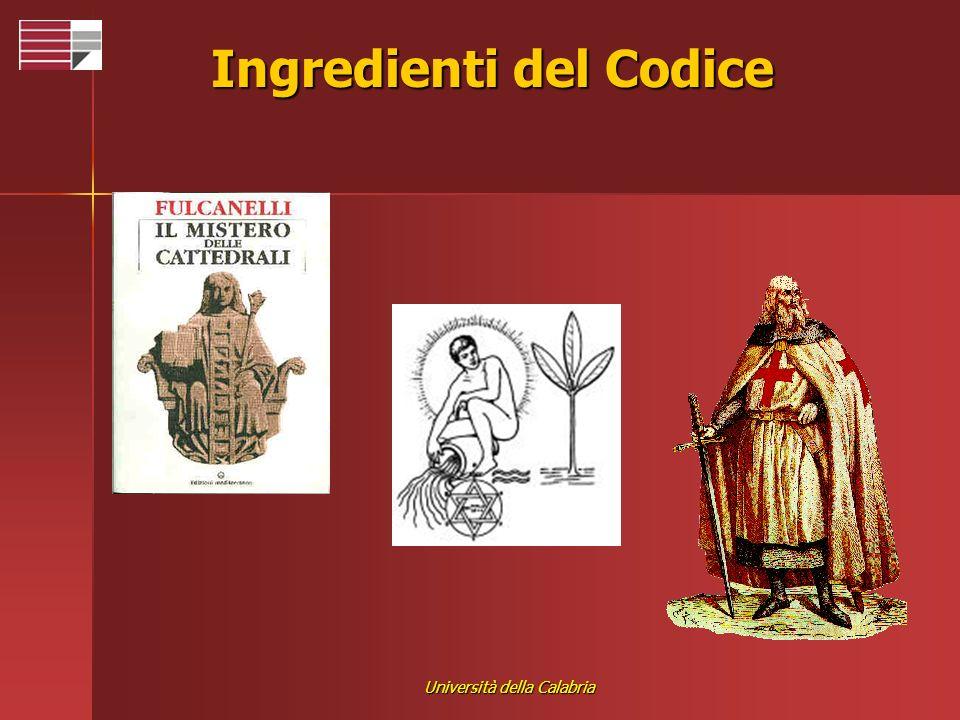Università della Calabria Ingredienti del Codice