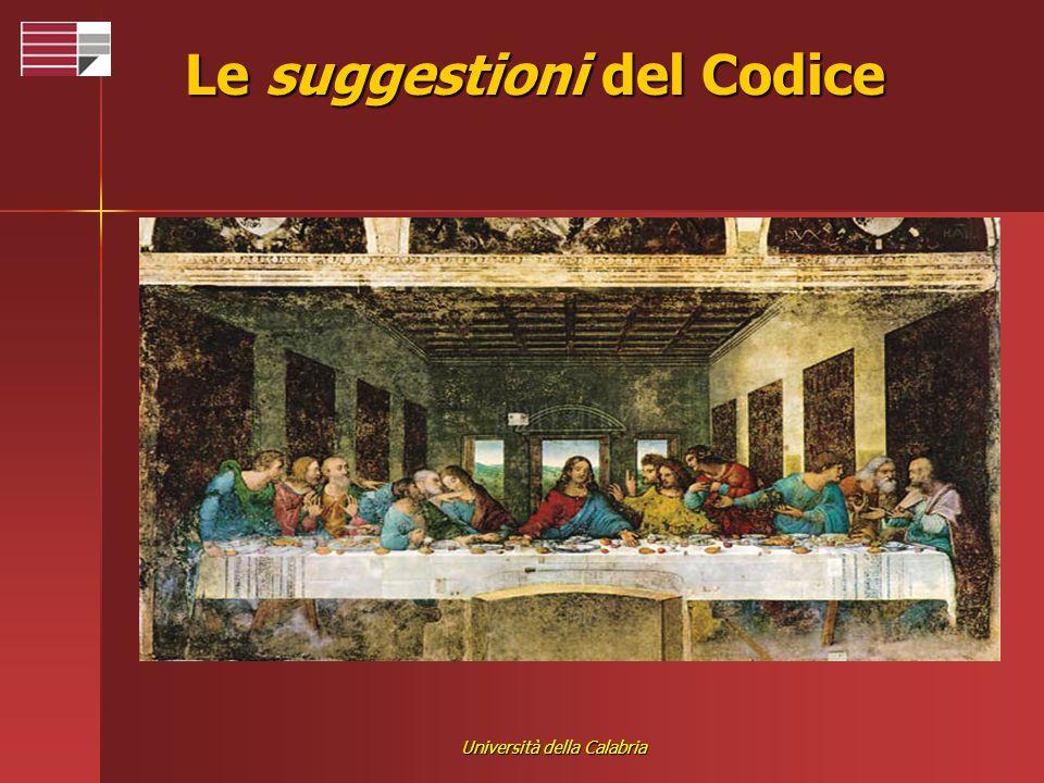 Università della Calabria Le suggestioni del Codice