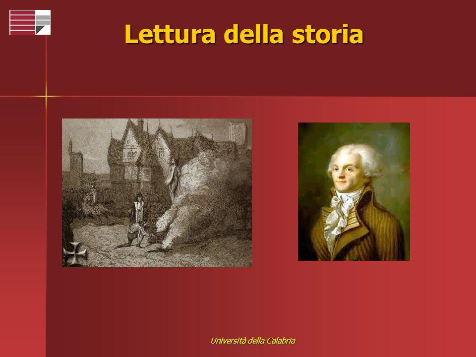 Università della Calabria Lettura della storia