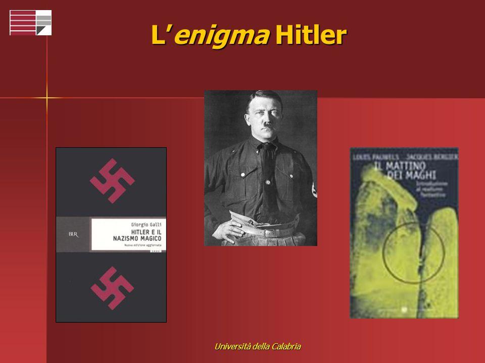 Università della Calabria Lenigma Hitler