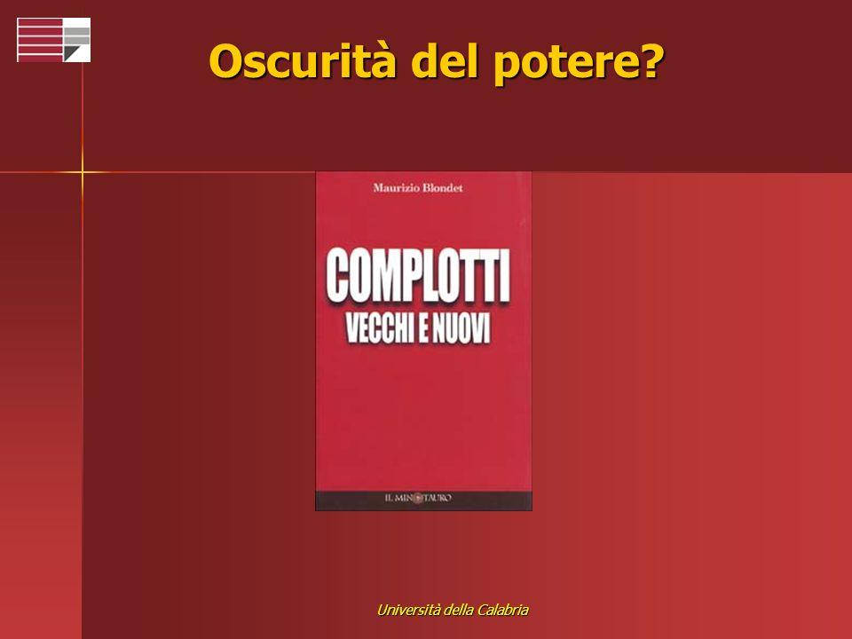 Università della Calabria Oscurità del potere?