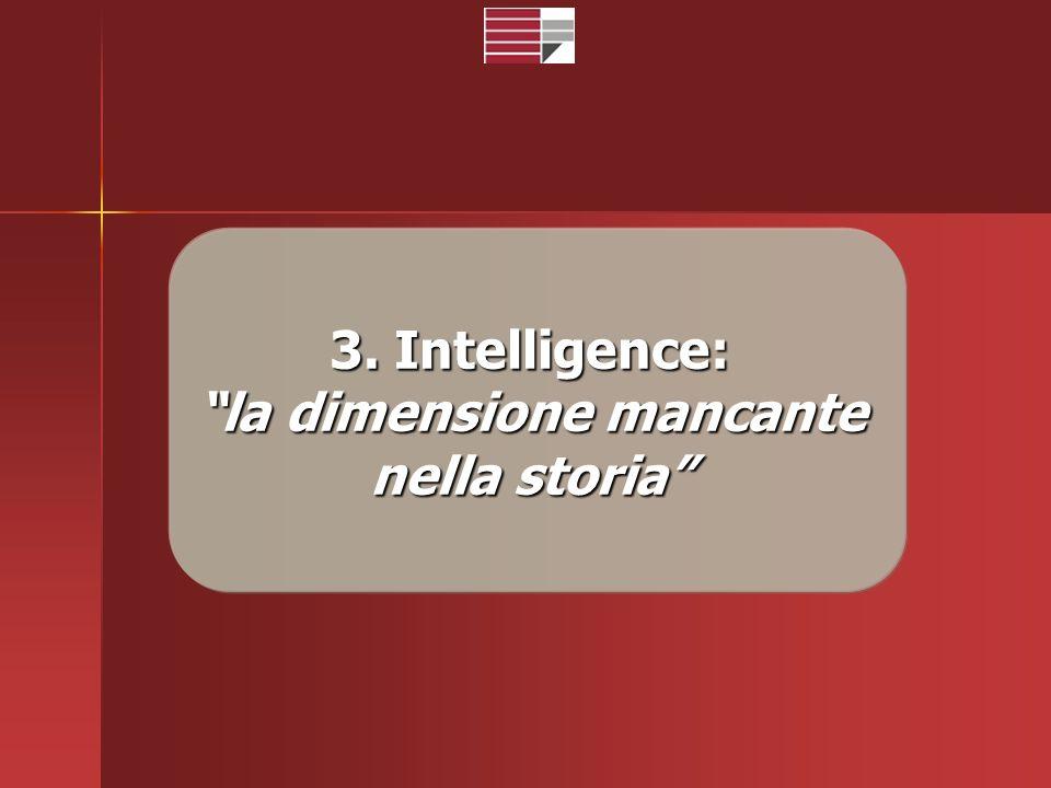 3. Intelligence: la dimensione mancante nella storia