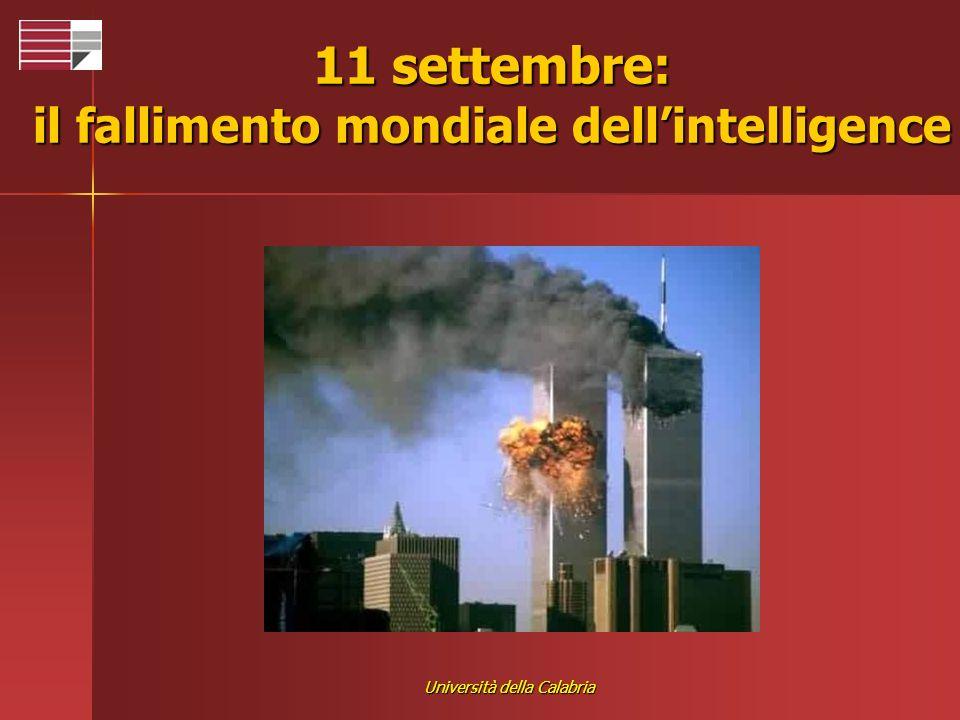 Università della Calabria 11 settembre: il fallimento mondiale dellintelligence