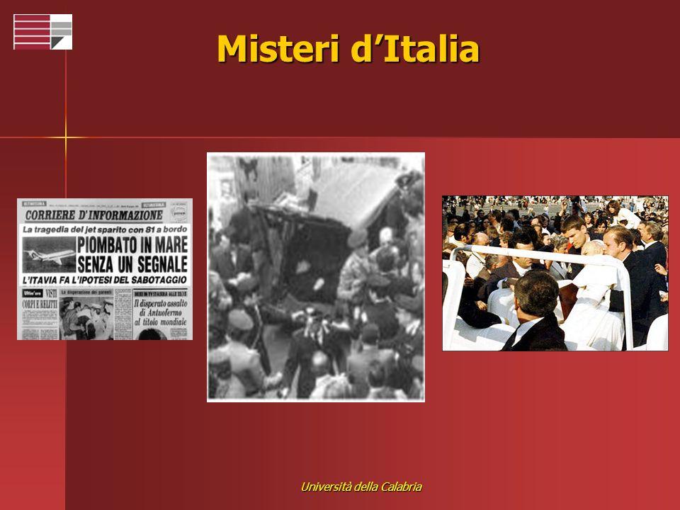 Università della Calabria Misteri dItalia
