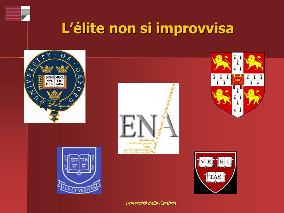 Università della Calabria Lélite non si improvvisa