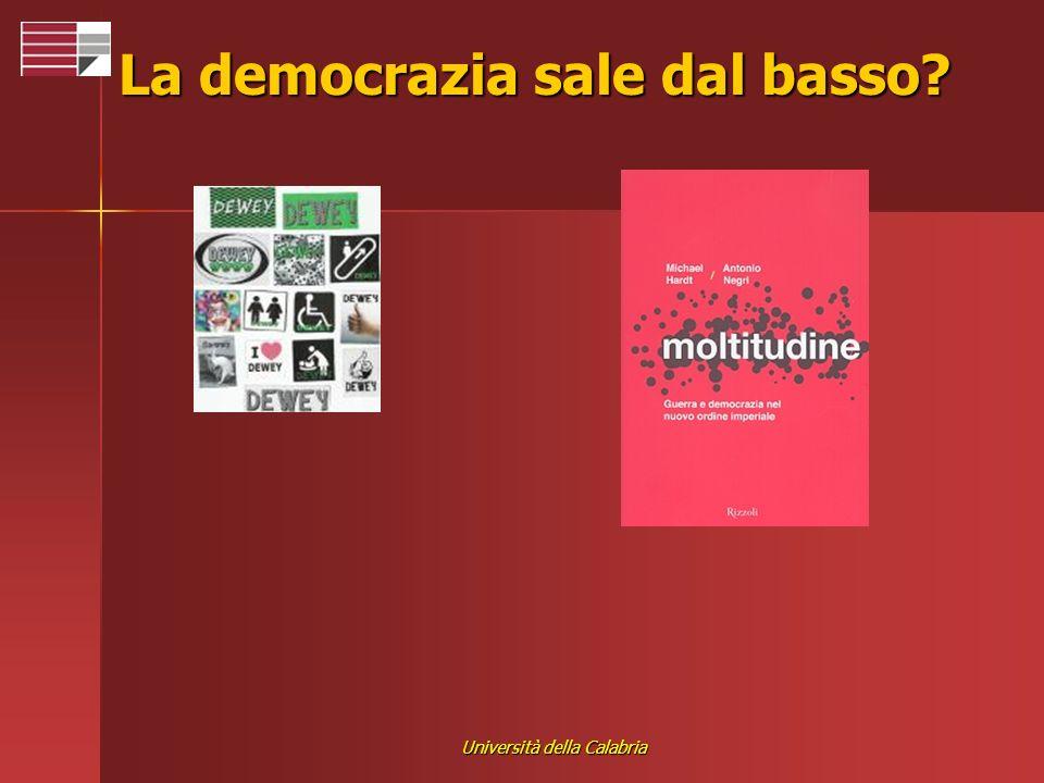 Università della Calabria La democrazia sale dal basso?