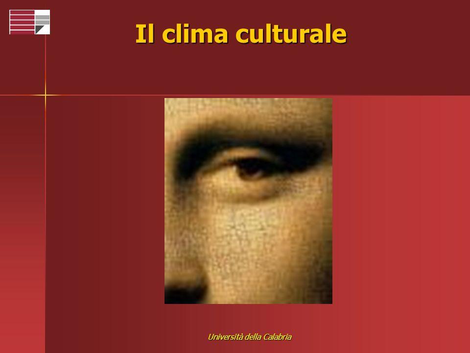Università della Calabria Il clima culturale