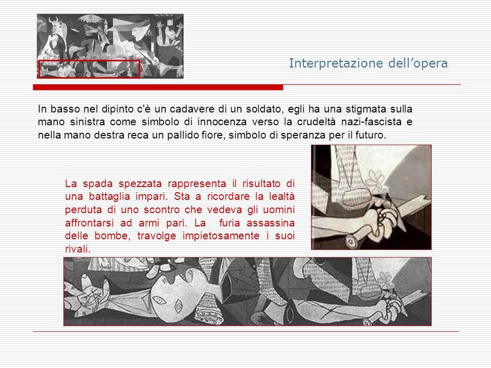 Interpretazione dellopera La narrazione dellevento è affidata alla parte destra del quadro.