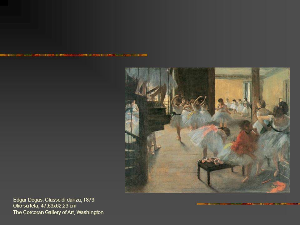 Edgar Degas, Classe di danza, 1873 Olio su tela, 47,63x62,23 cm The Corcoran Gallery of Art, Washington