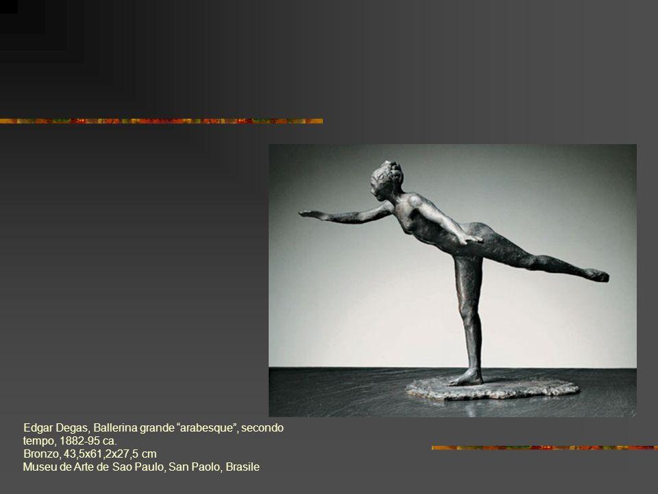 Edgar Degas, Ballerina grande arabesque, secondo tempo, 1882-95 ca. Bronzo, 43,5x61,2x27,5 cm Museu de Arte de Sao Paulo, San Paolo, Brasile