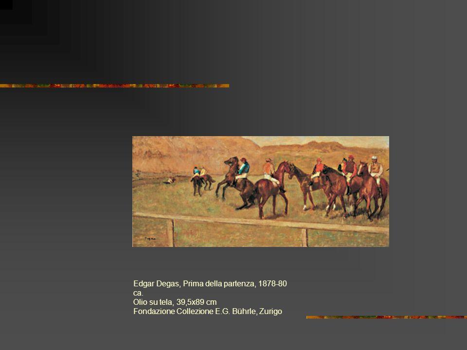 Edgar Degas, Prima della partenza, 1878-80 ca.Olio su tela, 39,5x89 cm Fondazione Collezione E.G.
