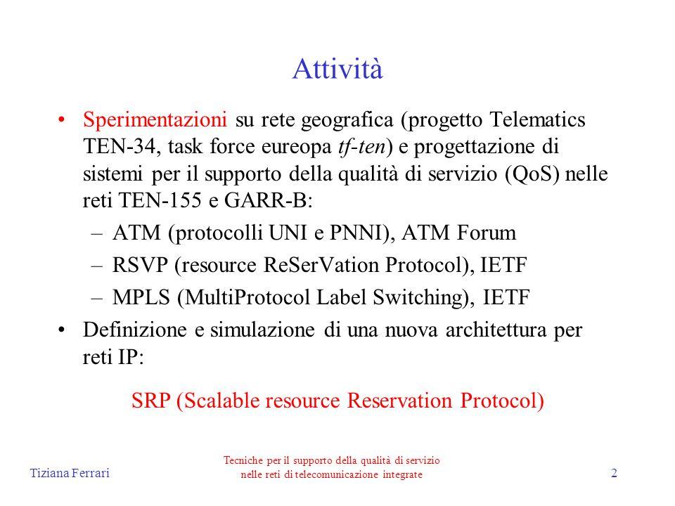 Tiziana Ferrari Tecniche per il supporto della qualità di servizio nelle reti di telecomunicazione integrate 3 PARTE 1: Sperimentazioni JAMES: Joint ATM Experiment on European Services