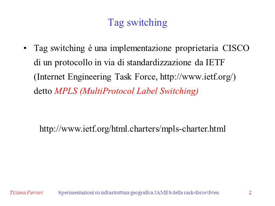 Tiziana FerrariSperimentazioni su infrastruttura geografica JAMES della rask-force tf-ten13 .