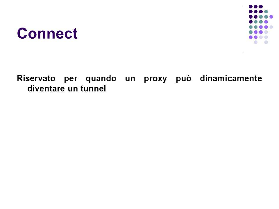 Connect Riservato per quando un proxy può dinamicamente diventare un tunnel