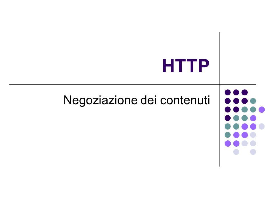 HTTP Negoziazione dei contenuti
