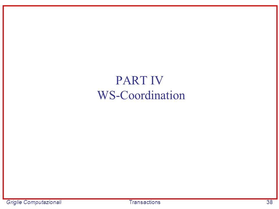 Griglie ComputazionaliTransactions38 PART IV WS-Coordination
