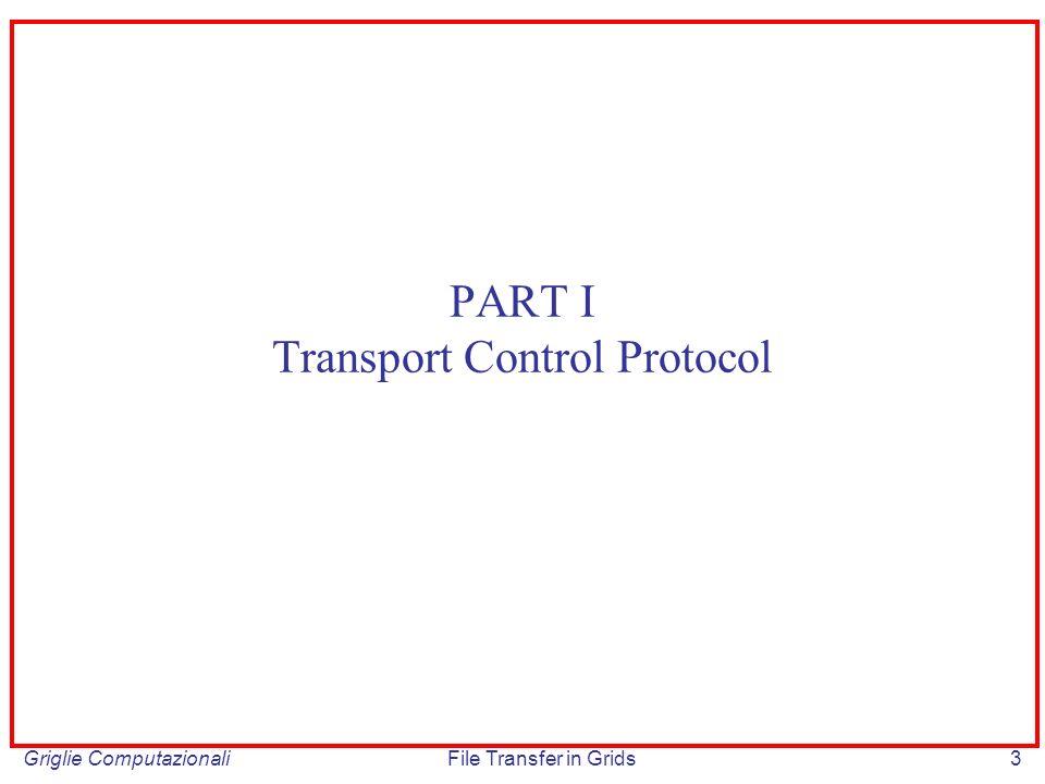 Griglie ComputazionaliFile Transfer in Grids64 Obiettivo: prevenire la congestione riducendo il rate di trasmissione prima che essa si verifichi.