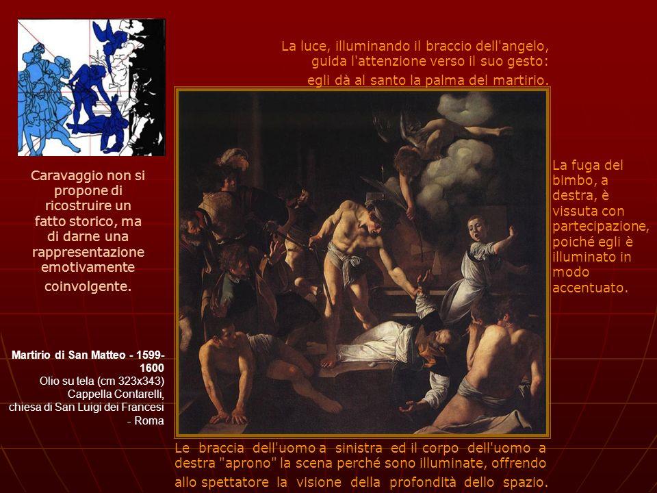 Martirio di San Matteo - 1599- 1600 Olio su tela (cm 323x343) Cappella Contarelli, chiesa di San Luigi dei Francesi - Roma Caravaggio non si propone d