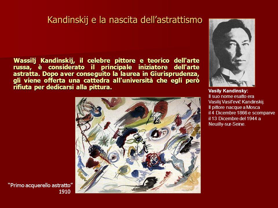 Wassilj Kandinskij, il celebre pittore e teorico dell'arte russa, è considerato il principale iniziatore dell'arte astratta. Dopo aver conseguito la l