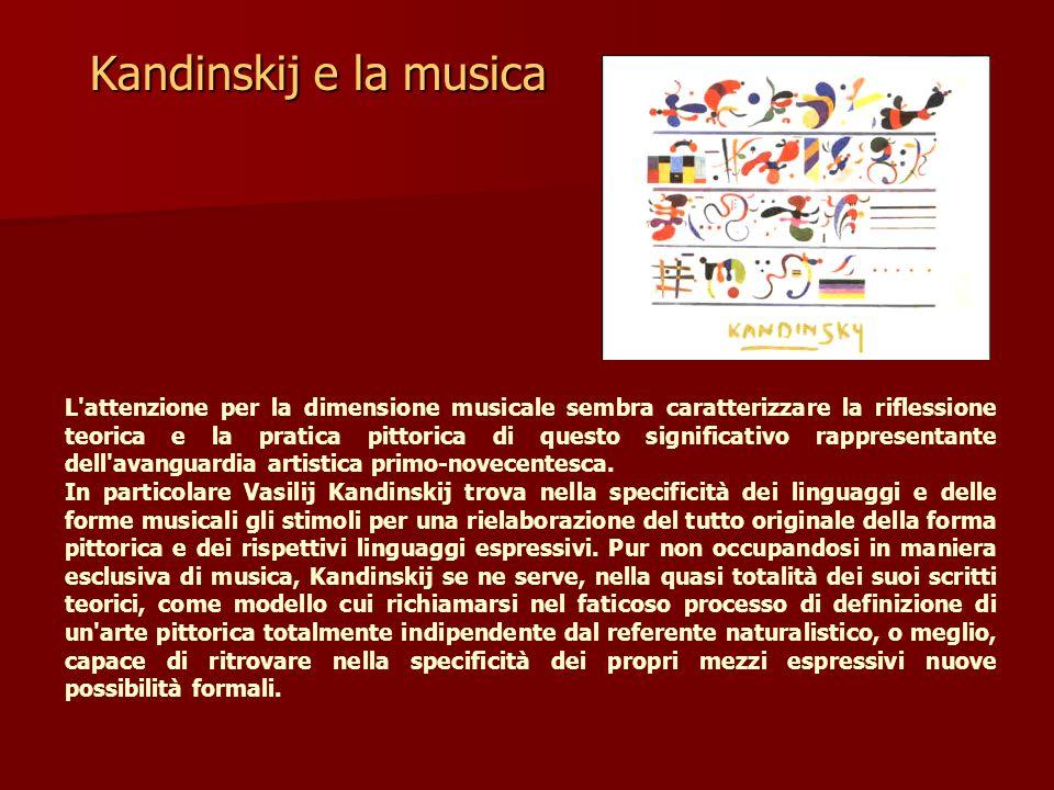 Kandinskij e la musica L'attenzione per la dimensione musicale sembra caratterizzare la riflessione teorica e la pratica pittorica di questo significa