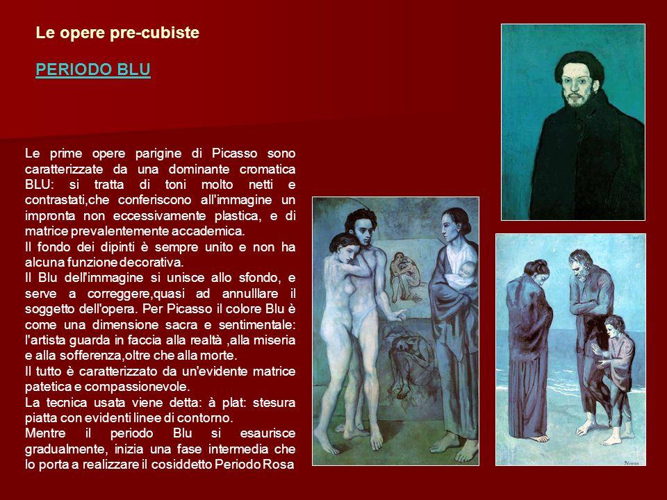 Le prime opere parigine di Picasso sono caratterizzate da una dominante cromatica BLU: si tratta di toni molto netti e contrastati,che conferiscono al