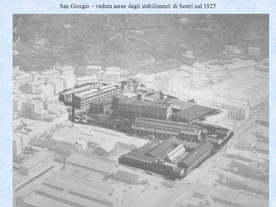 Genova e Attilio Odero7 San Giorgio – veduta aerea degli stabilimenti di Sestri nel 1925